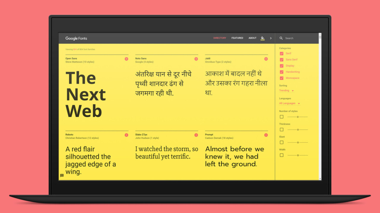 Typography nerds will love Google's revamped site for Web fonts