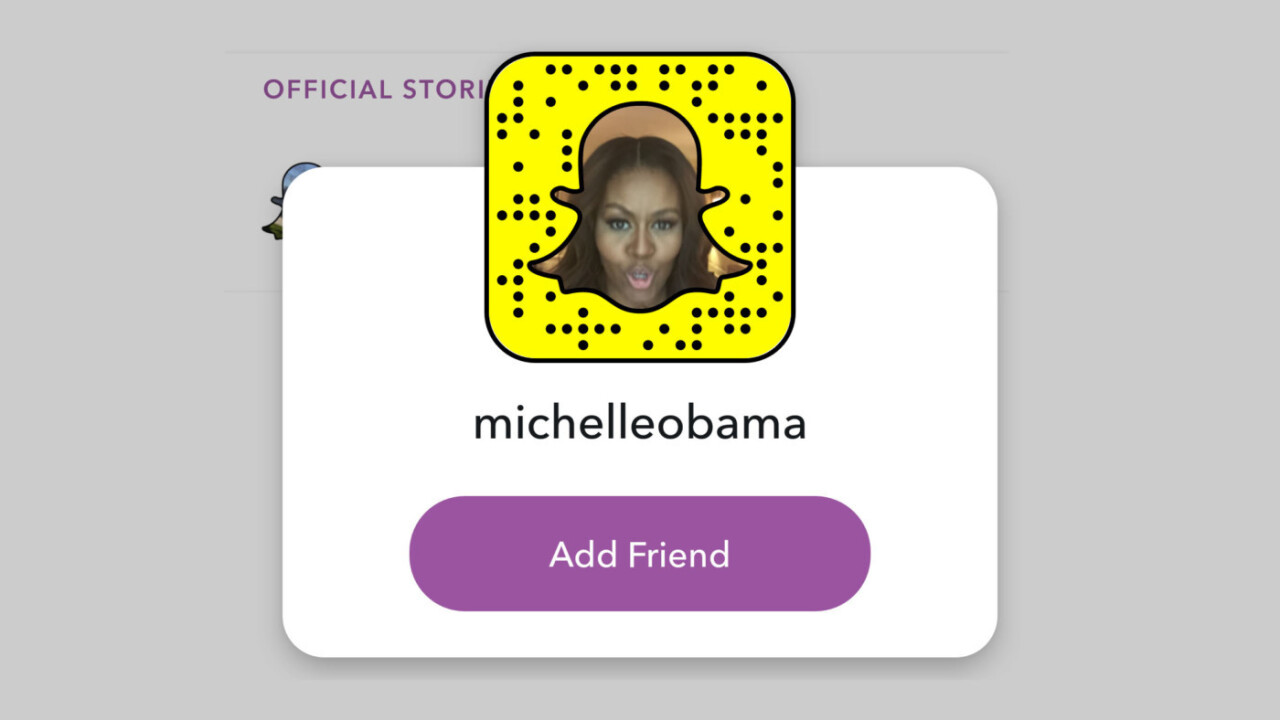 Michelle Obama is now on Snapchat