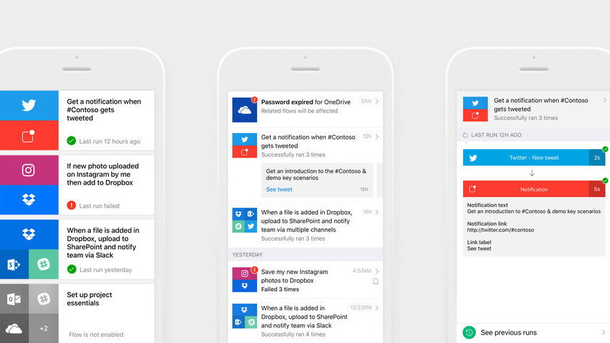 Microsoft brings its IFTTT rival to iOS, but it's not yet ready for prime-time