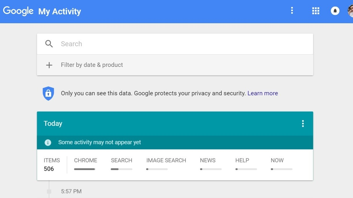 Google's new My Activity page lets you see all your Google history in one place
