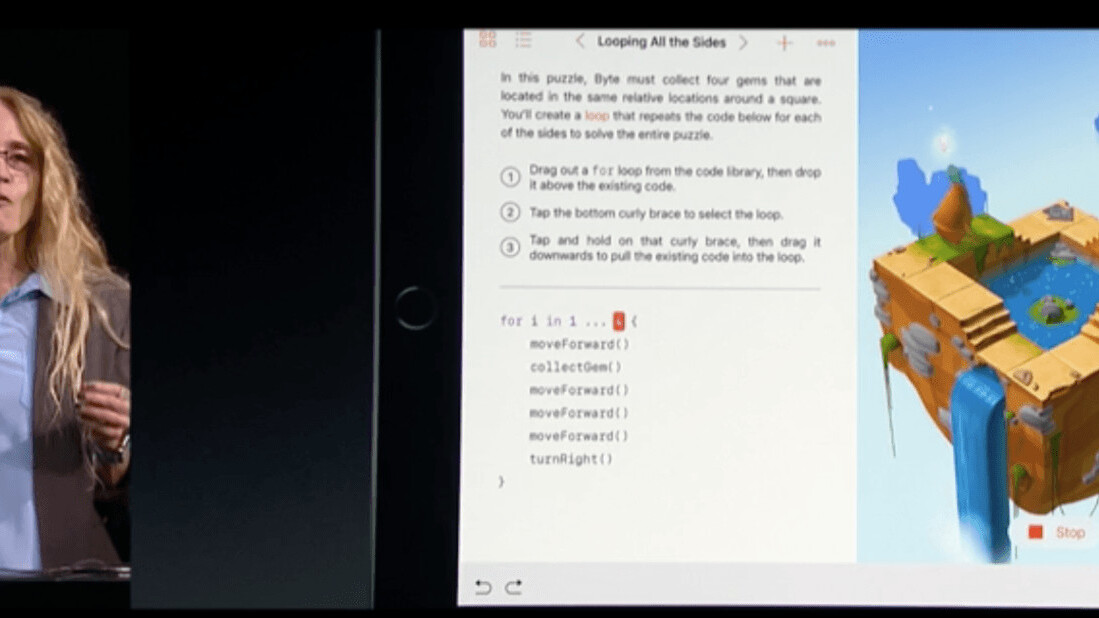 Apple made a playgrounds app for iPad to help you learn how to code