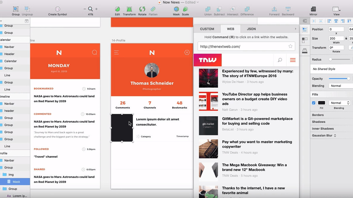 Craft for Sketch redesign adds JSON so designers feel more like developers