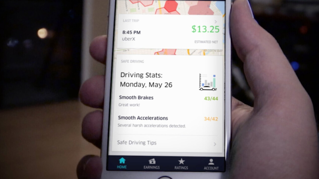 Uber wants to track drivers' phones to help them travel safer