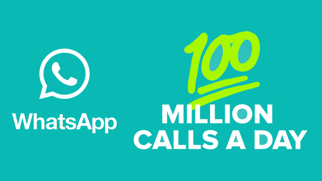 WhatsApp users are making 100 millions calls every day
