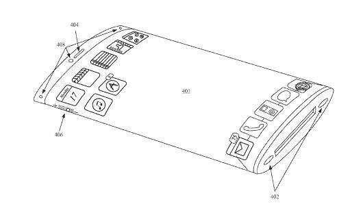 Apple patent shows the company might be toying with a wrap-around iPhone screen