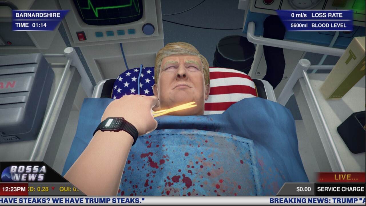'Surgeon Simulator' update lets you virtually tear Donald Trump apart
