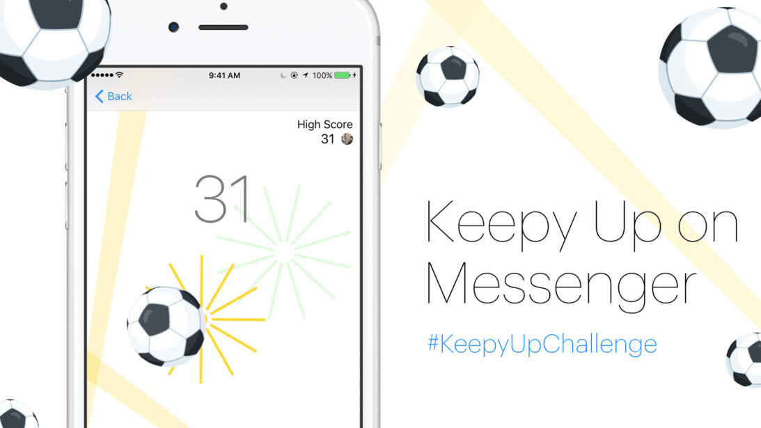 Facebook has a new hidden game in Messenger (hint: use the soccer emoji)
