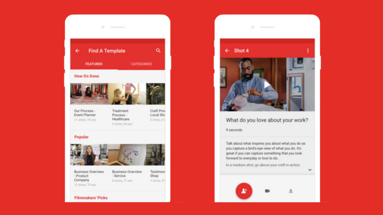 YouTube Director app helps business owners on a budget create DIY video ads