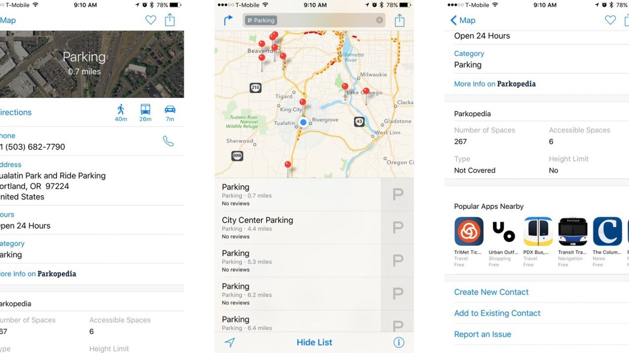 Apple Maps will now tell you where to park (and plug in your Tesla)