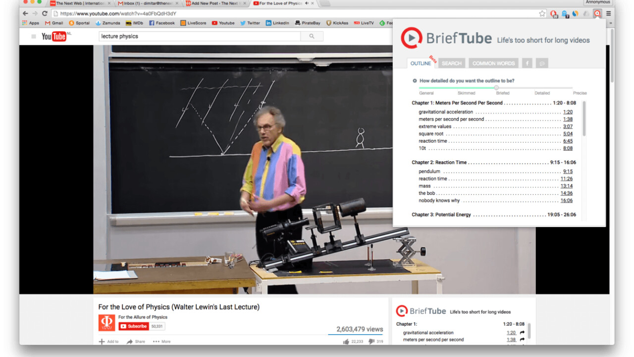 You'll love watching lectures on YouTube with this Chrome extension