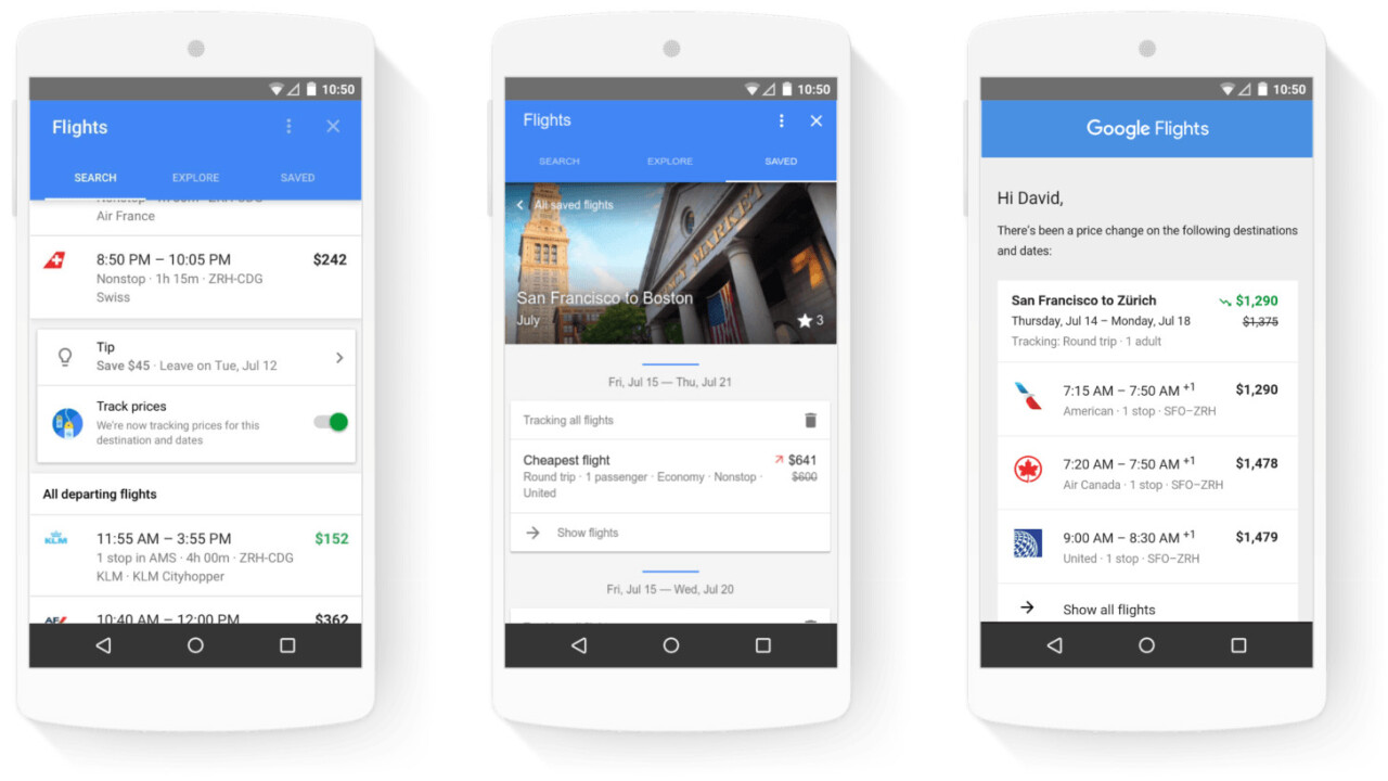 Google plays concierge with new hotel deals and flight tracking features in search results