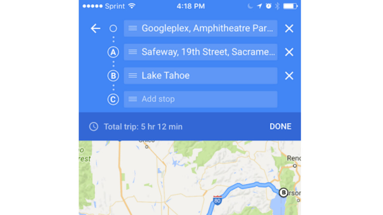 Google Maps can now navigate to multiple destinations on iOS