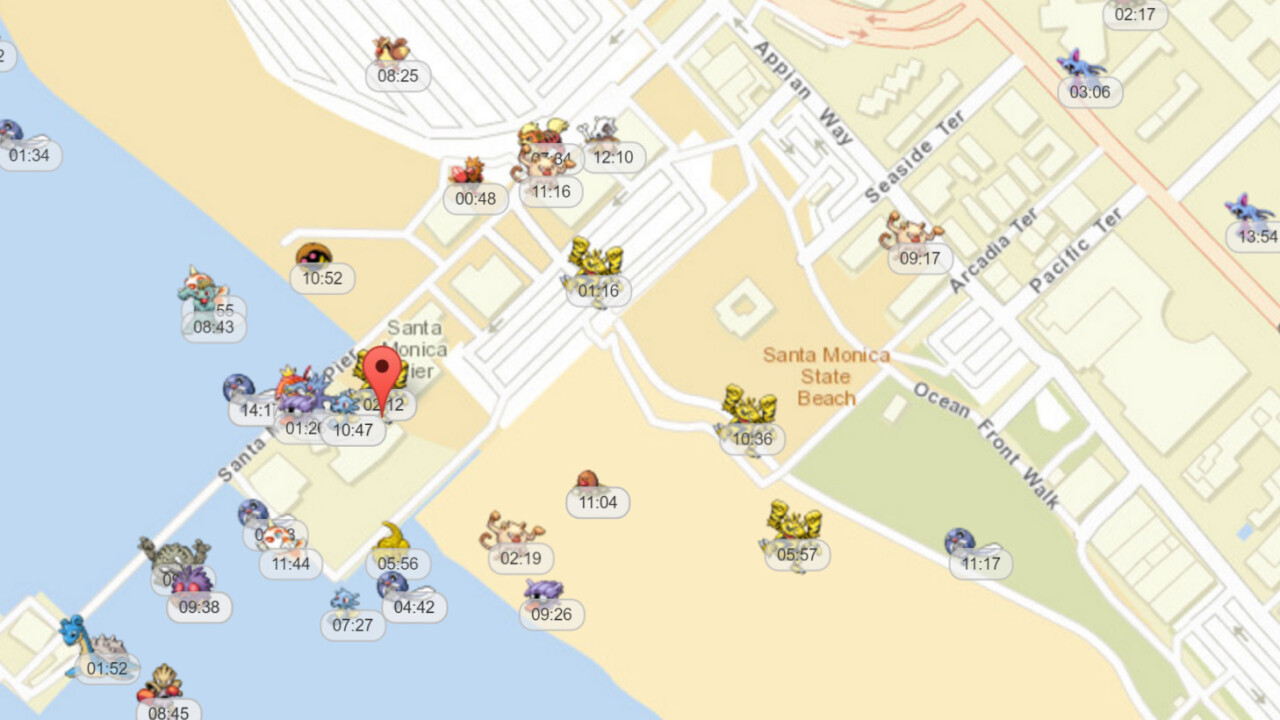 Use this map to find Pokémon in real-time before you head out to play Pokémon Go