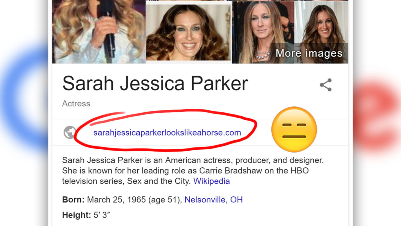 That awkward moment when Google insults a celebrity on Knowledge Graph