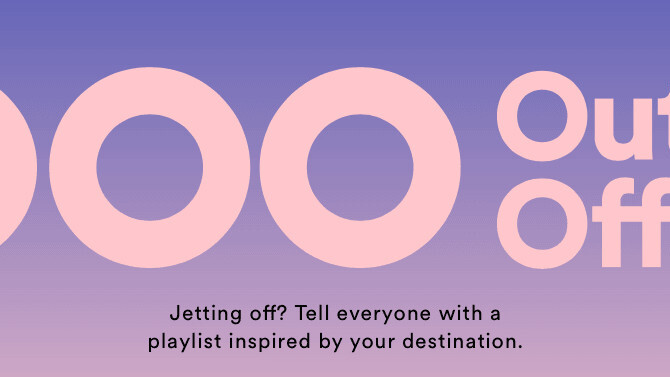 Spotify's latest feature is an 'out of office' playlist for email