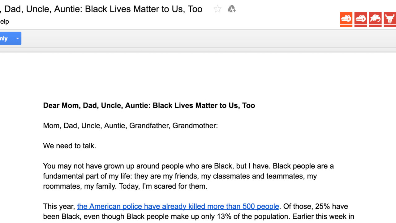 Asian Americans are crowdsourcing a letter to explain Black Lives Matter to their families