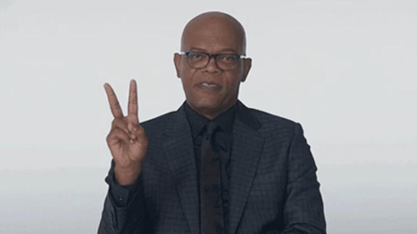 Samuel L. Jackson is distracting us…