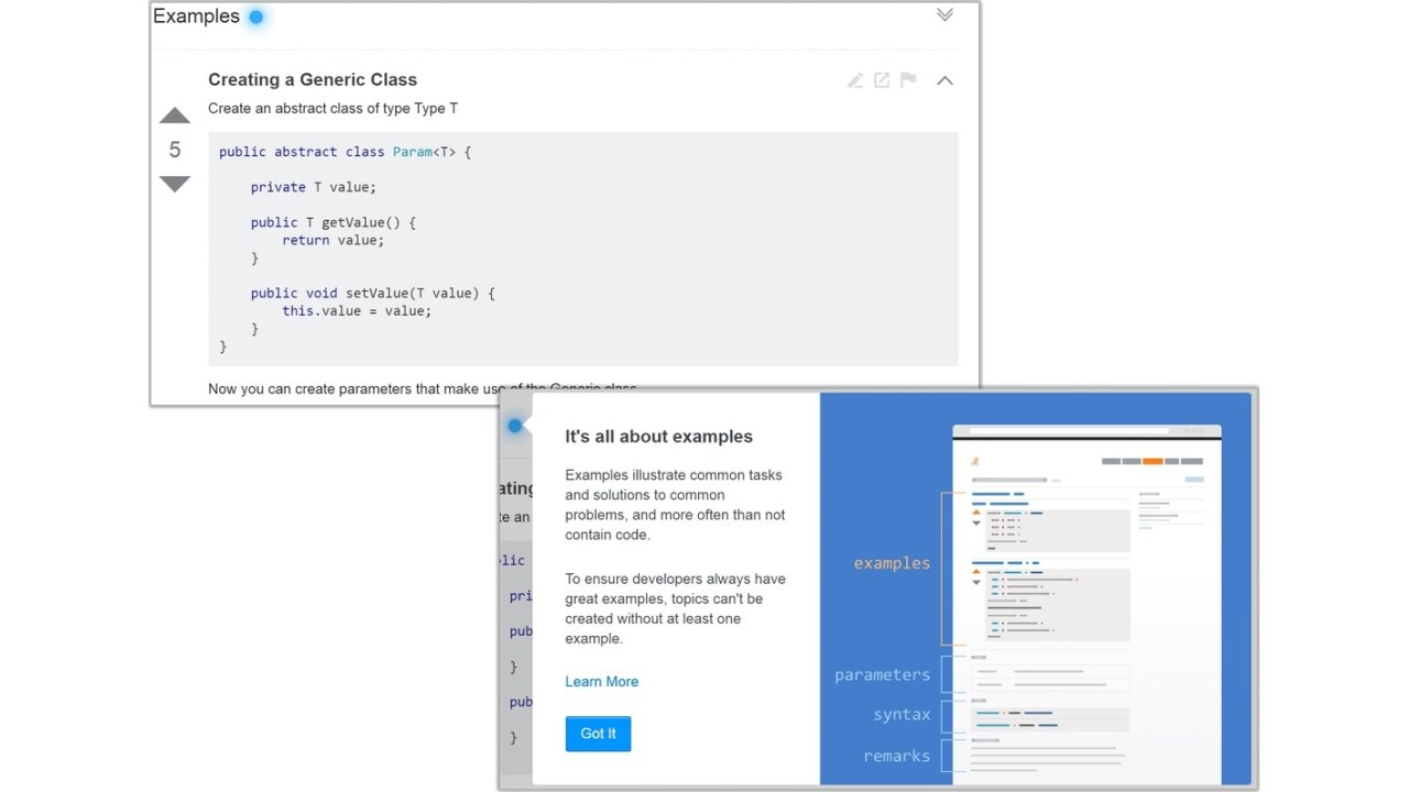 Stack Overflow's new 'Documentation' feature puts examples first, boring text second