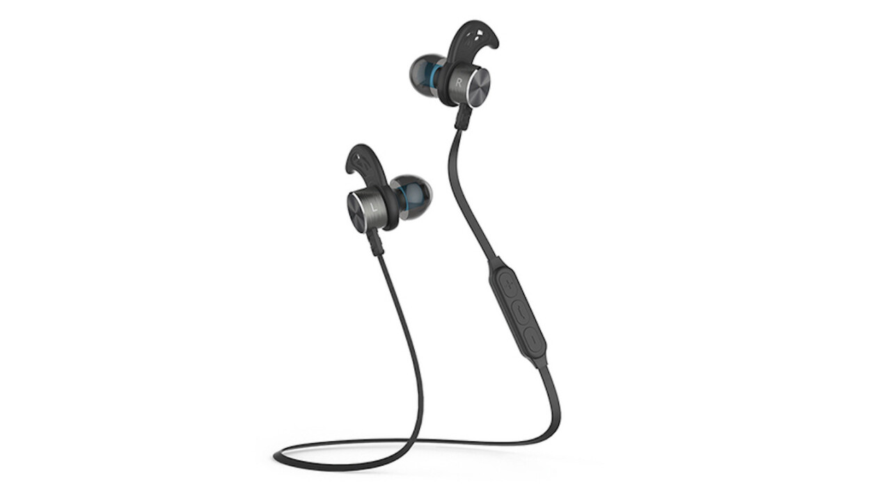 Magnetic Bluetooth Wireless Sport Headphones: 5 hours of crystal clear playtime at 37% off