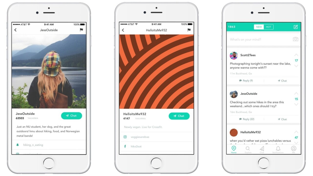 Yik Yak now has Profiles, but you can still be anonymous (yes, really)
