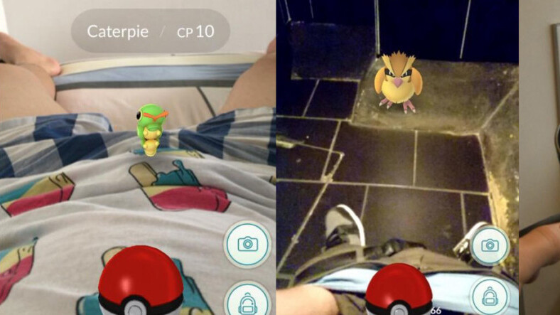 Pokemon Go players keep finding Pokemon in, um, interesting places