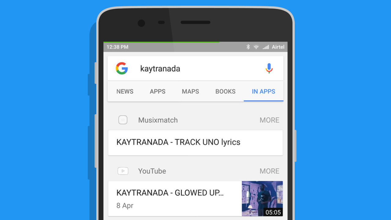 Google's new search mode surfaces results from apps on your Android device