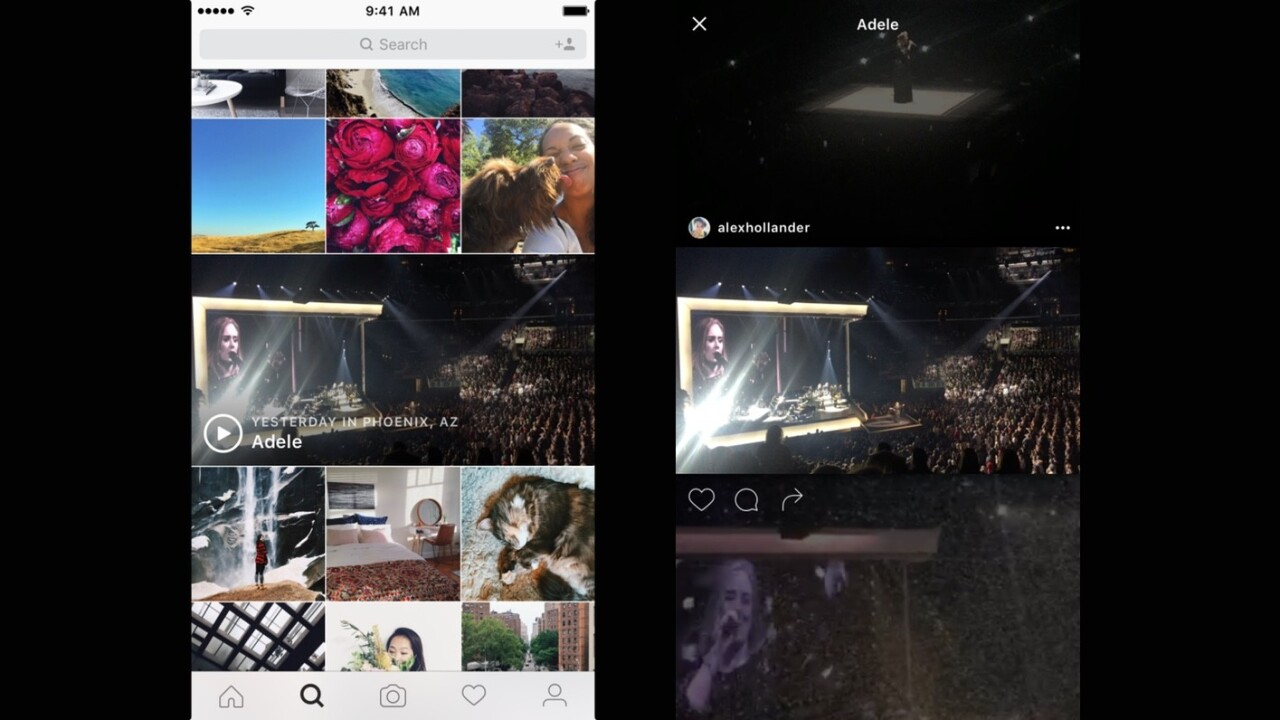 Instagram's Explore tab now has an 'Events Channel' for concert and event video