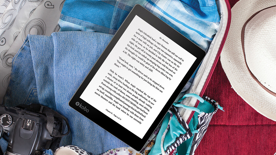 Kobo is back with a large waterproof e-reader to take on the Kindle Oasis