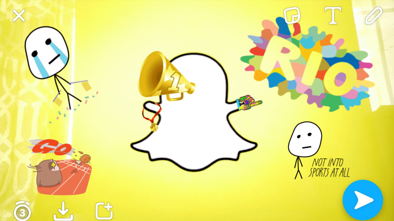 Snapchat adds Olympics-themed filters, stickers, and lenses