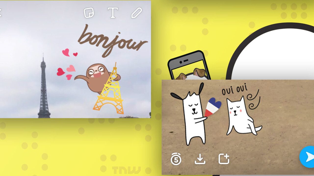 Snapchat introduces location-based Geostickers