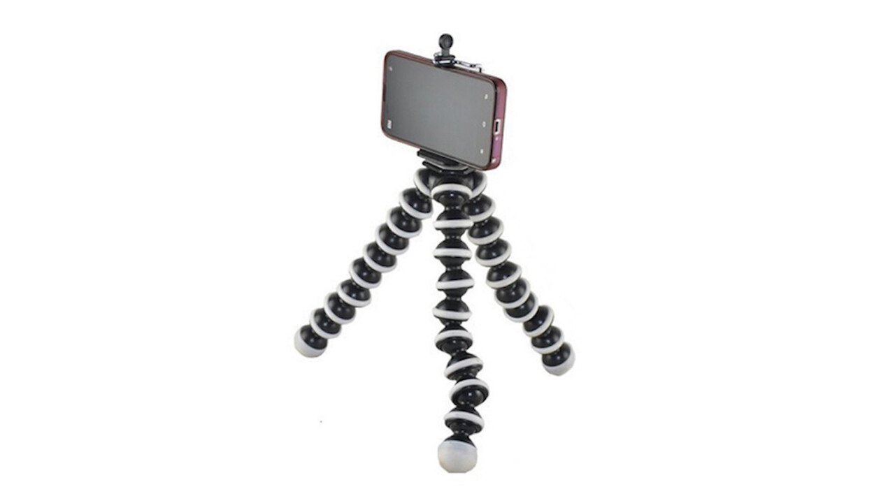 Taking pictures is a snap with this Flexible Tripod for Smartphones & Cameras (50% off)
