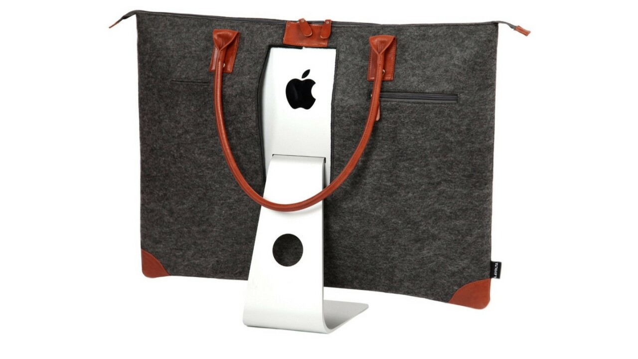 This iMac case looks like what happens if an Apple Store and a purse boned