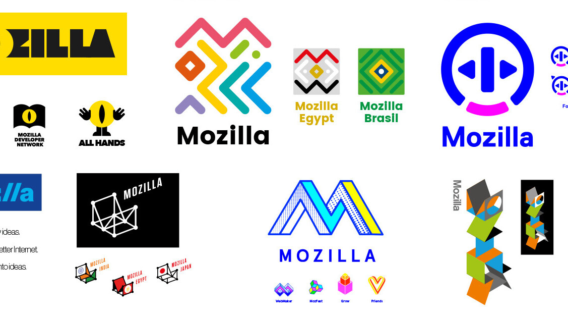 Mozilla open-sourced its logo redesign, and here are the finalists