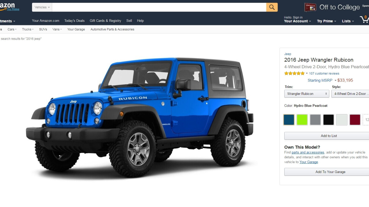 Amazon just launched Vehicles, a place to talk about and lust after cars
