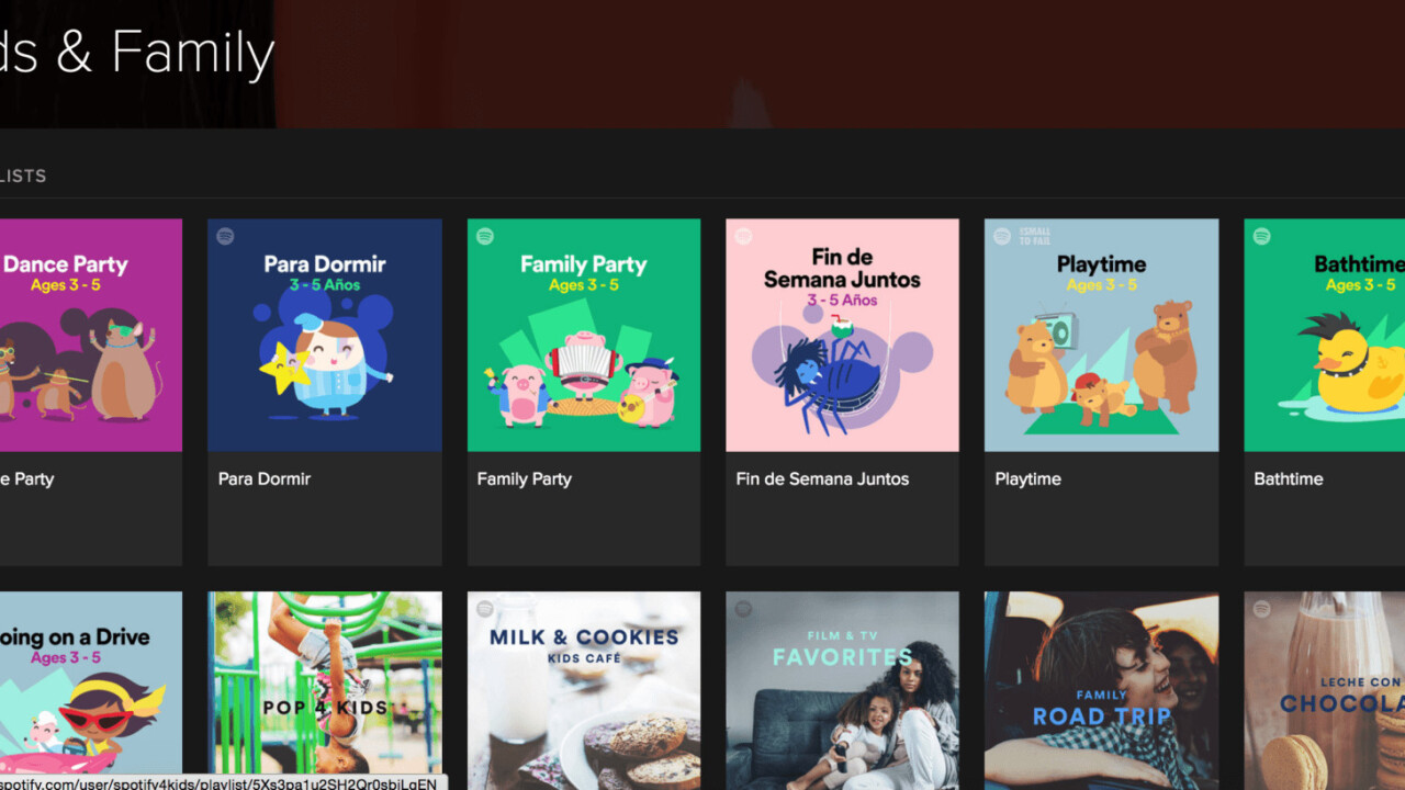 Spotify's new Kids section uses music to encourage language development and parental bonding