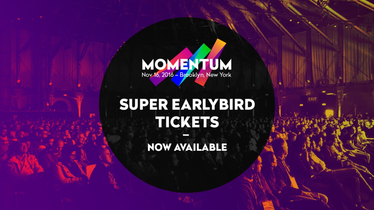 Act fast: Super Earlybird tickets for Momentum are live!