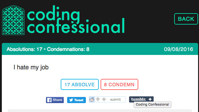 Coding Confessional is the place to go if you hate your programming job