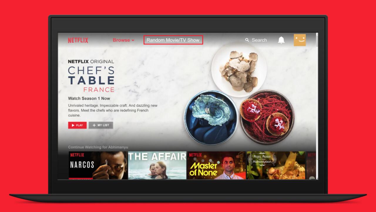 Netflix gets an unofficial 'Random' button