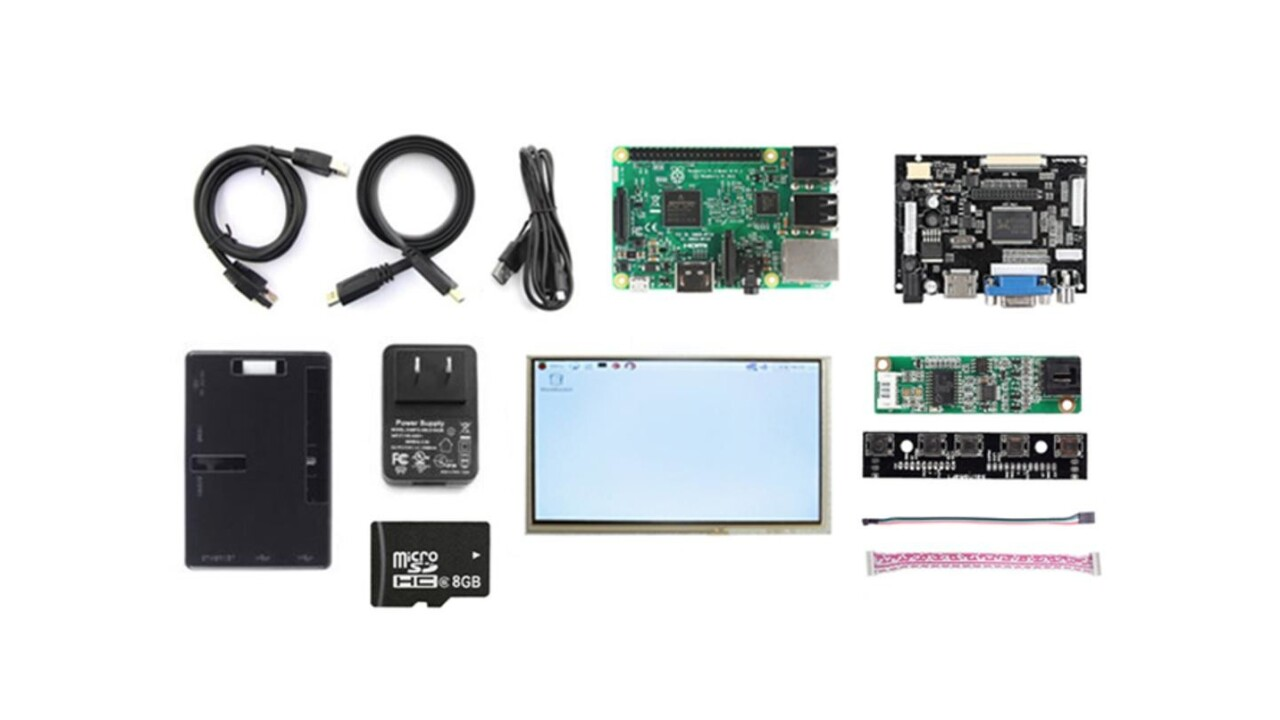 Dive into DIY tinkering with the Raspberry Pi 3 Complete LCD Display Kit