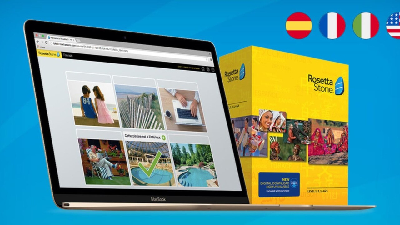 Rosetta Stone is the premier language learning program, and it's now 66% off