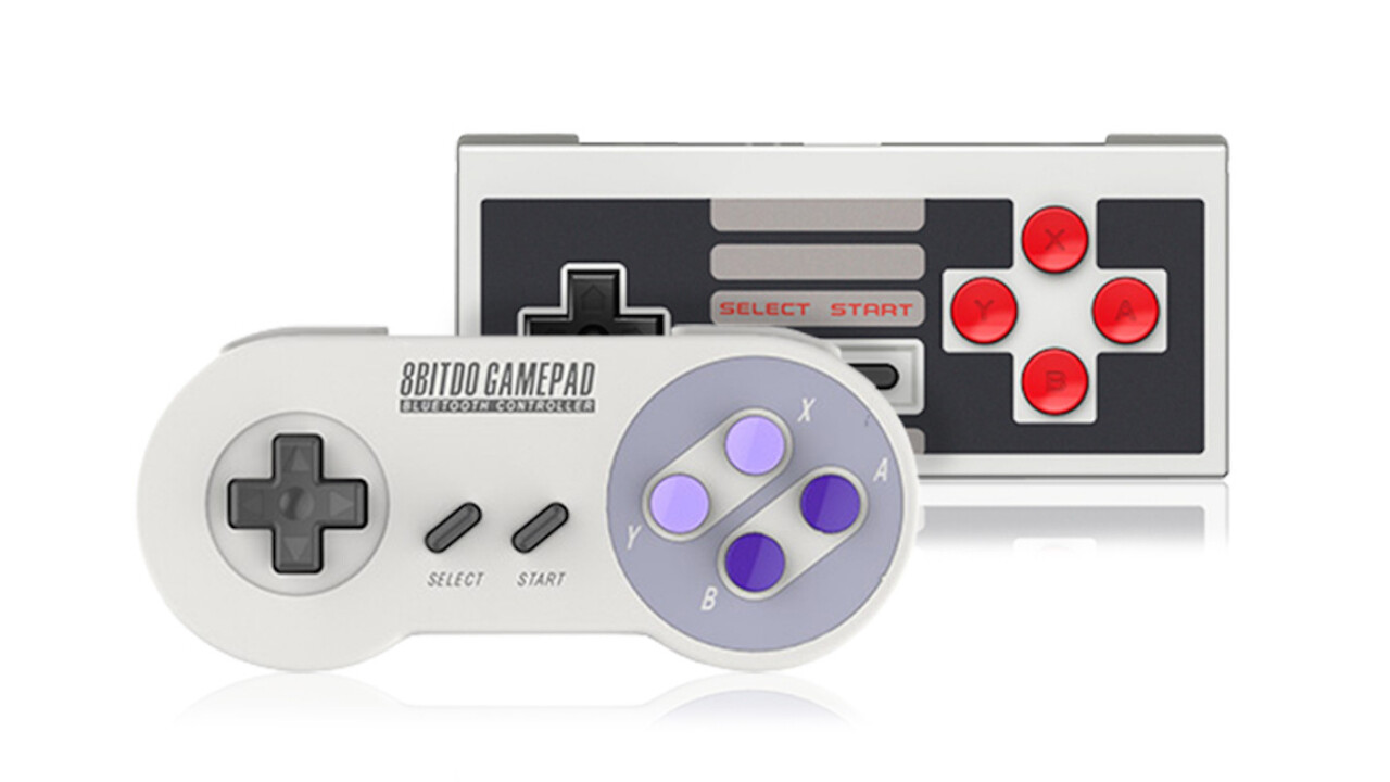 Play classic games wirelessly with this retro NES / SNES Bluetooth controller