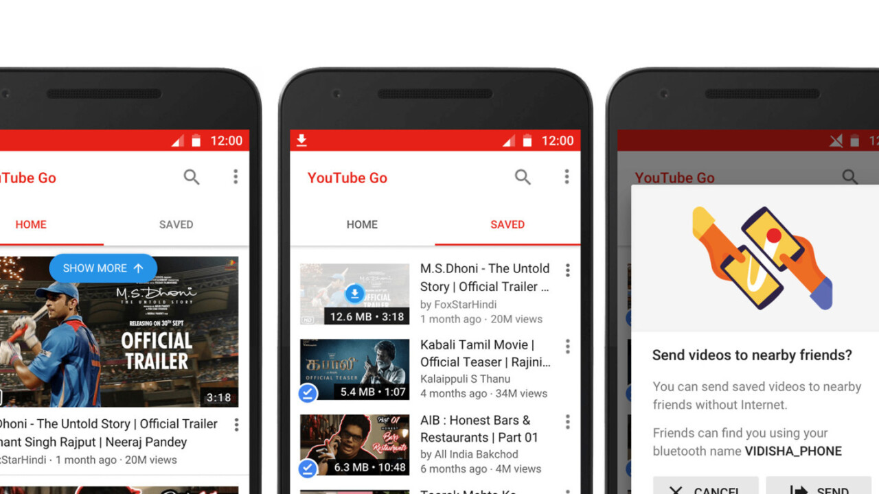 Google announces YouTube Go for video junkies on a data budget