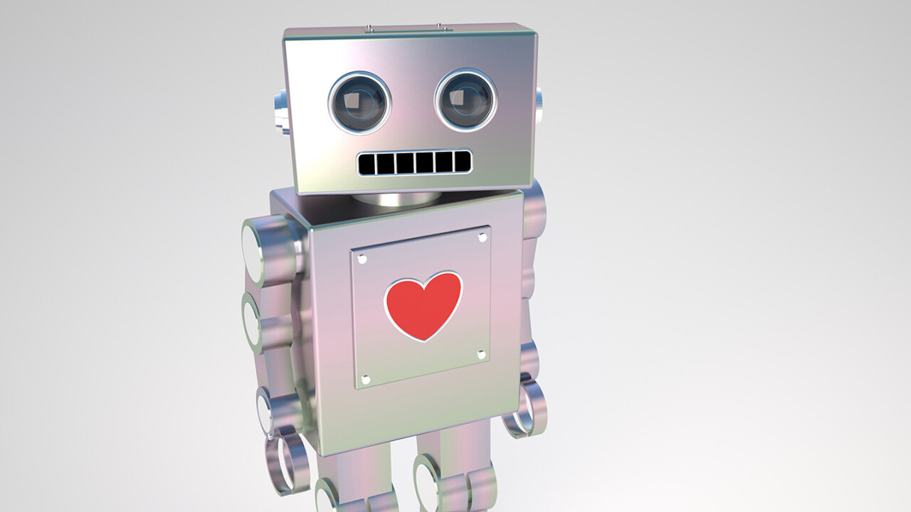 LoveBot automatically says 'I love you', and that's not depressing at all