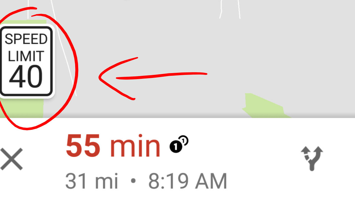Google Maps tests showing speed limits (finally)