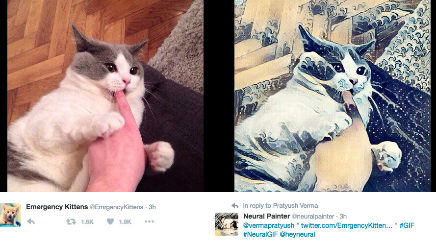 There's now a Prisma-like Twitter bot that will paint whatever you want