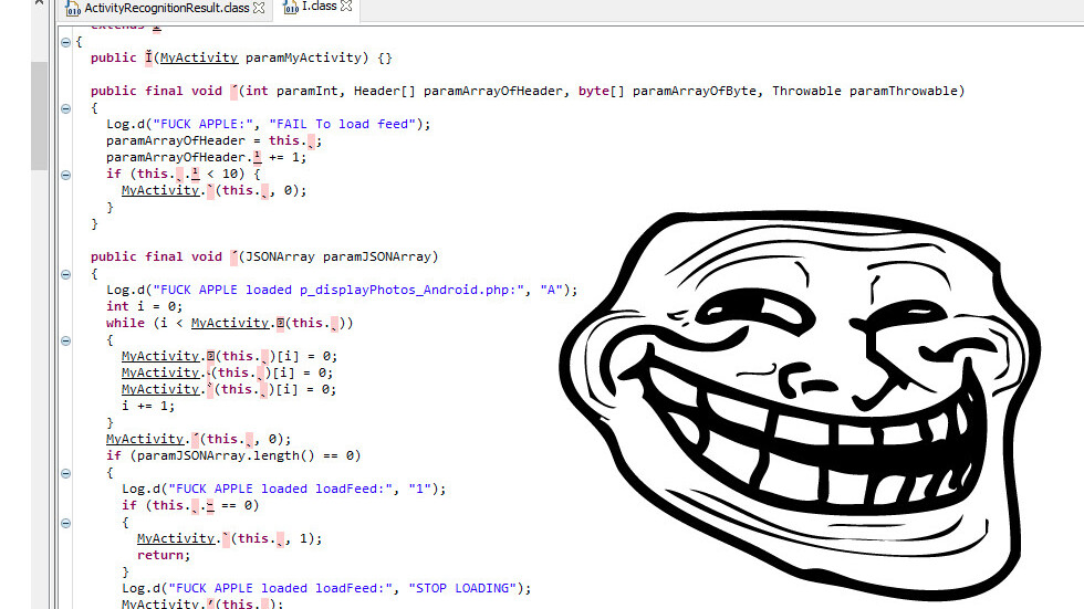 WhatsApp devs (possibly) master-troll Apple with a hidden 'fuck you' in source code [Updated]