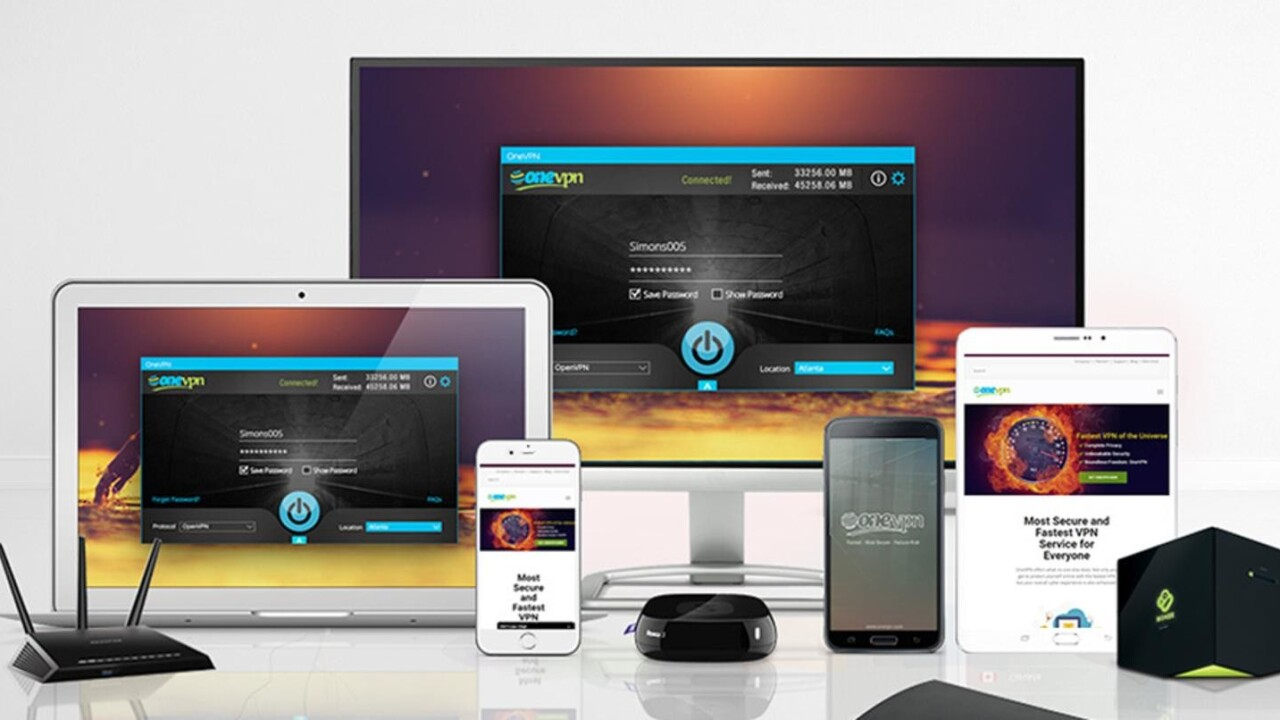 Get online peace of mind for life with OneVPN (89% off)