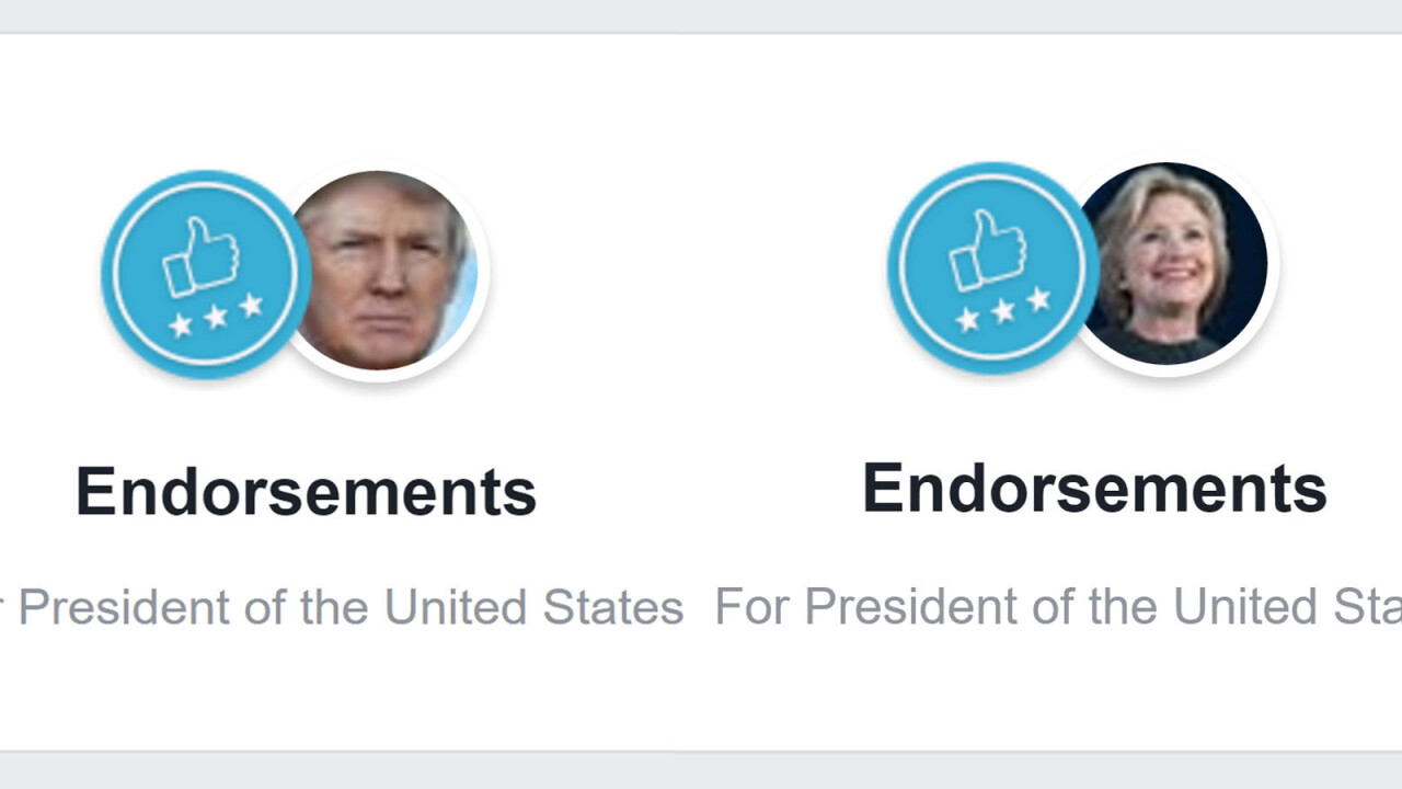 Facebook now lets you publicly endorse candidates (if you're brave enough)