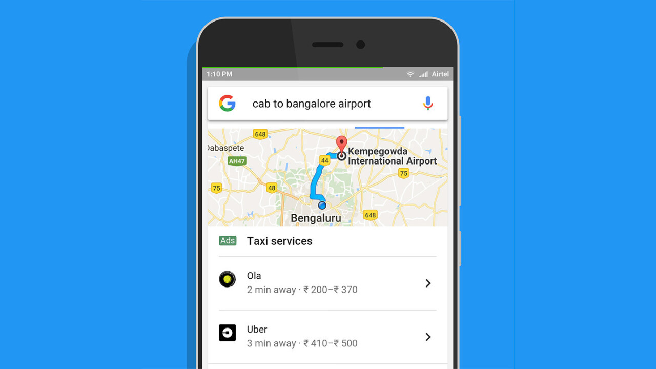 Google now lets you hail an Uber straight from mobile search results