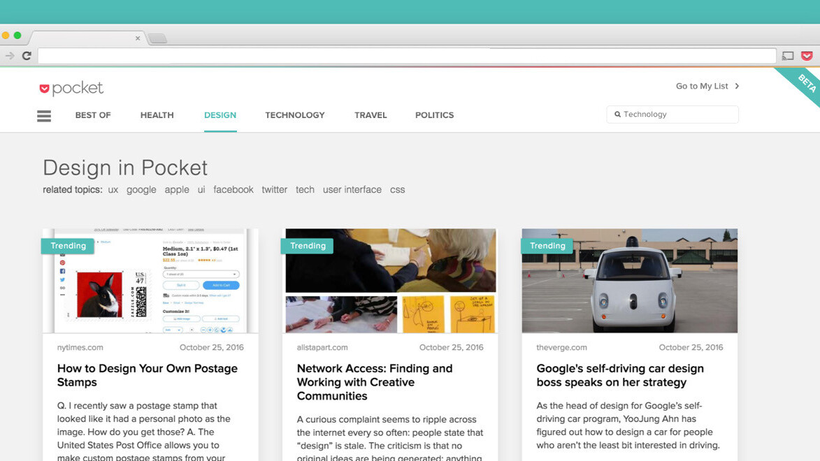 Pocket makes it easier for avid readers to binge on the Web's best articles